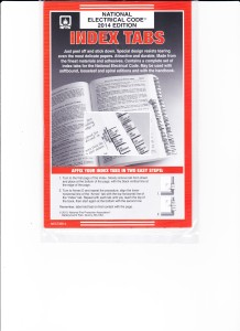 Pre-Printed Tabs for the NFPA 70 National Electric Code  – 2014 001