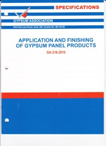 Application & Finishing of Gypsum Panel Products, 2016 001