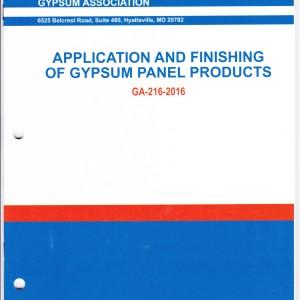 Application & Finishing of Gypsum Panel Products, 2016 001