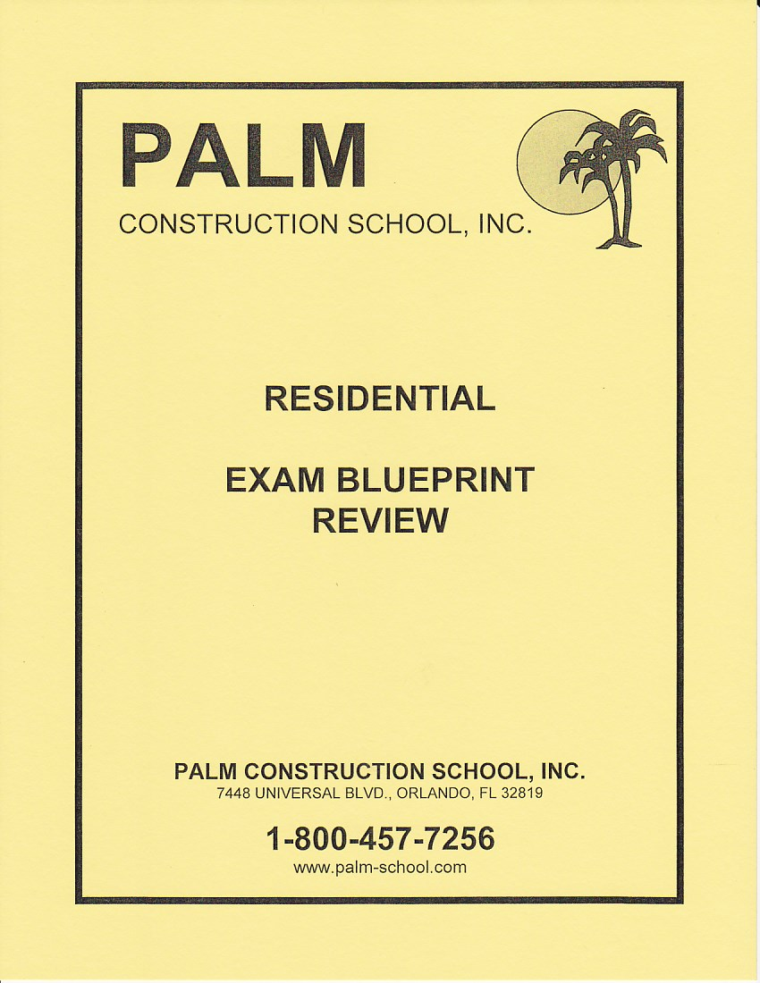 Blueprint review for the residential contractors exams includes blueprint review for the residential exam malvernweather Choice Image
