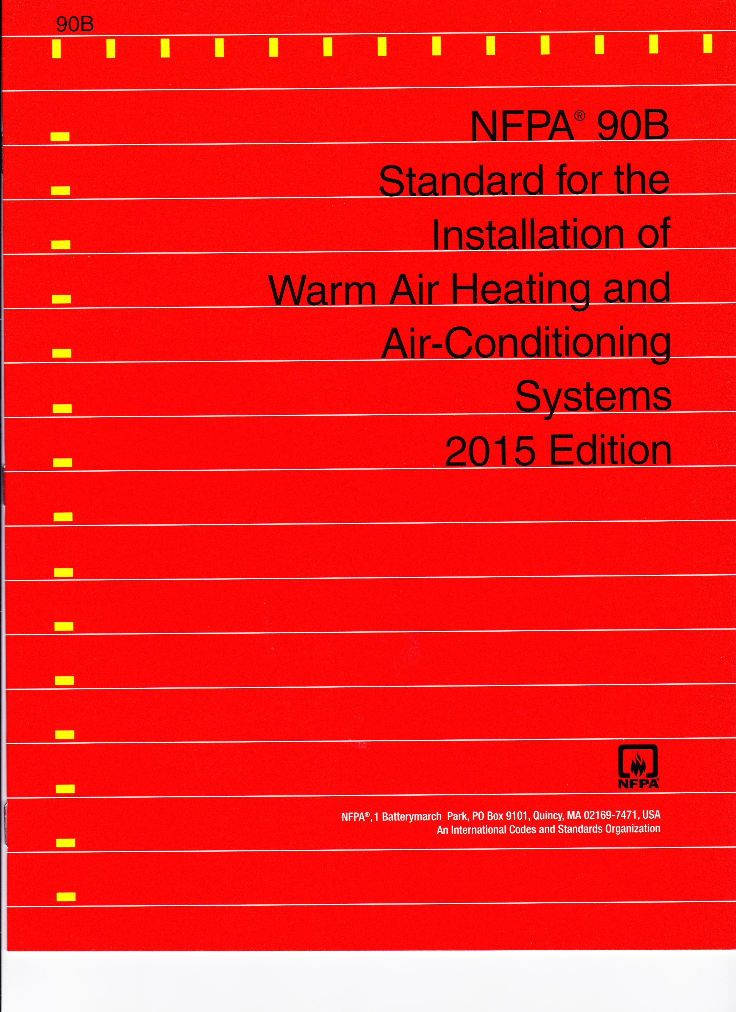 Nfpa 90b Standard For The Installation Of Warm Air